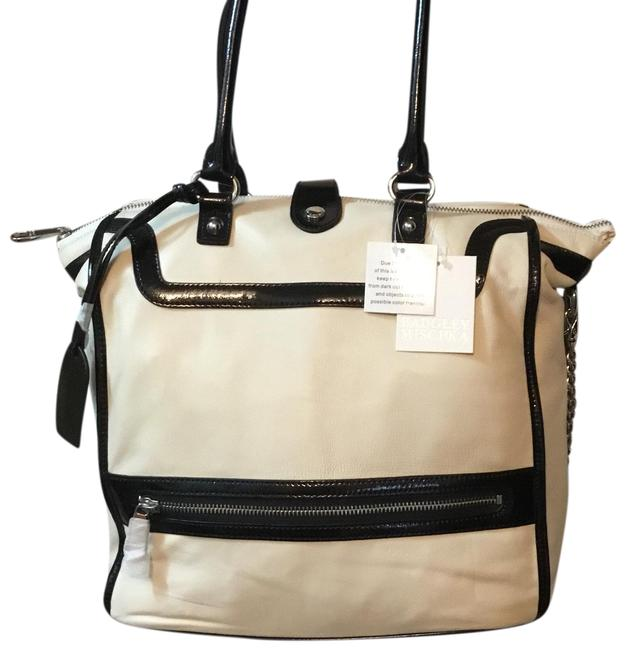 Item - With Tags and Dust Black& Off White Nappa Leather Satchel
