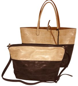 Sydney Love Tote in tan/charcoal
