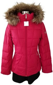 Calvin Klein Parka Down Jacket Faux Fur Hooded Quilted Coat