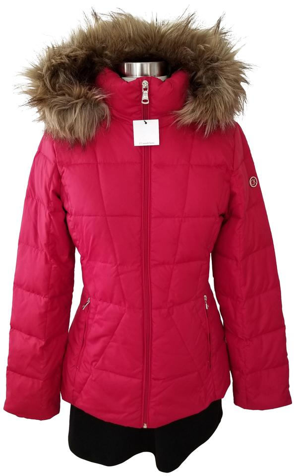 5caf9096f Calvin Klein Red Faux-fur-lined Down Jacket Small Coat Size 4 (S) 38% off  retail