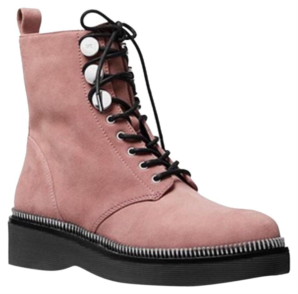 fcac608b7ff4 Michael Kors Dusty Rose Tavie Combat Boots Booties Size US 7 Regular ...