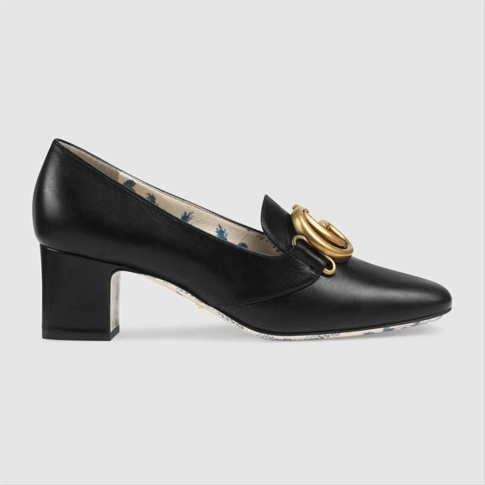 2593640cf83 Gucci Nero Black Patent Leather Mid-heel Pumps Size EU 36 (Approx ...