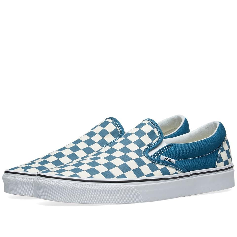 Vans Blue White Corsair True Checkerboard Classic Slip-on Sneakers Sneakers.  Size  US ... 3ceabd4ae