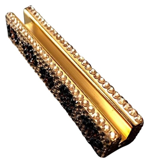 Preload https://img-static.tradesy.com/item/24768492/gold-metal-with-brown-black-and-gold-sequins-business-card-holder-0-3-540-540.jpg