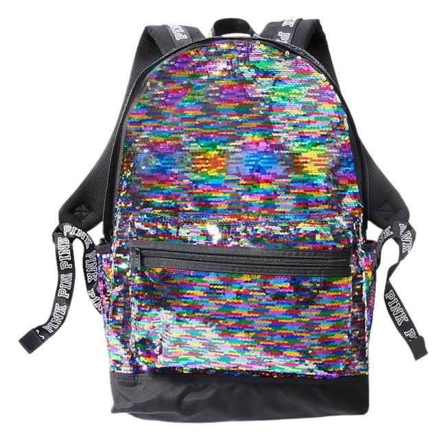 Item - New Pink Sparkle Colorful Bling Laptop Multicolor Sequin Backpack