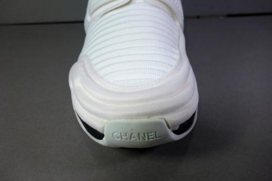 Chanel White with Black Trim Flats Image 7