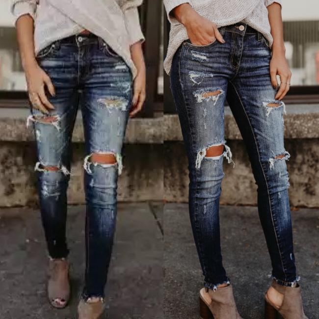 Preload https://img-static.tradesy.com/item/24768642/blue-dark-rinse-3-destroyed-ripped-stretchy-wash-kc5055d-skinny-jeans-size-25-2-xs-0-2-650-650.jpg