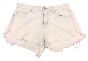 Free People Cut Off Shorts white and blue