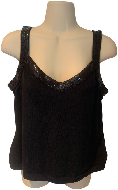 St. John Evening Sequin Shell Top black Image 0