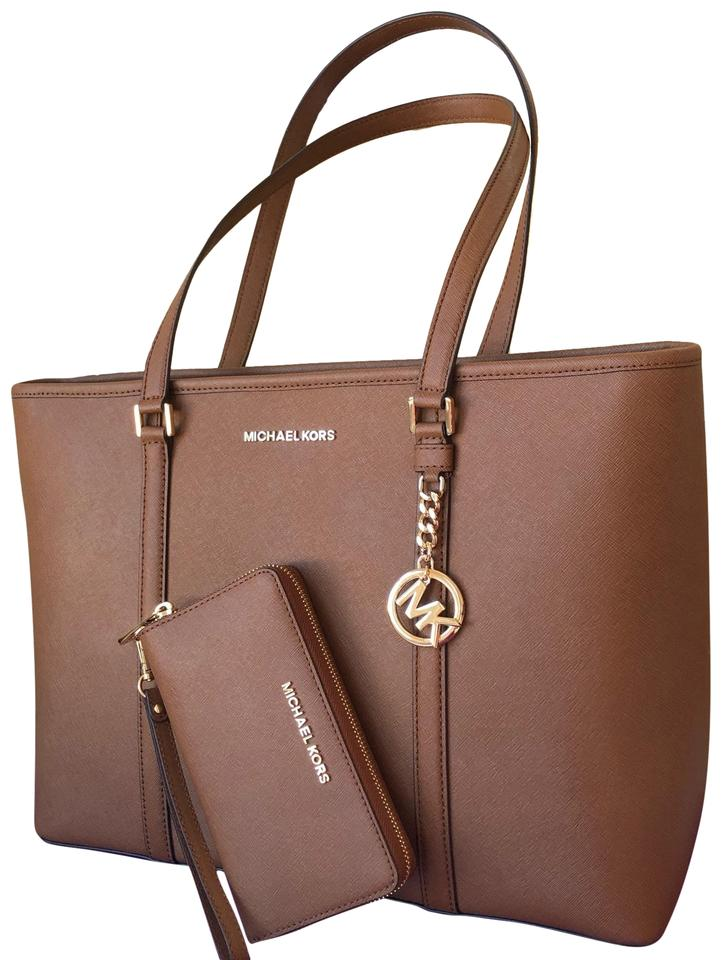 7827e7c9d2cf Michael Kors Sady Large Set Brown Leather Tote - Tradesy