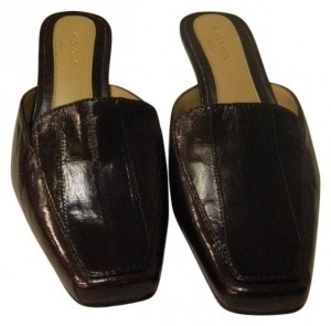 Liz Claiborne Brown leather Mules