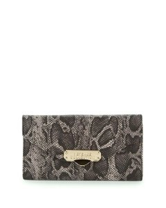 """Versace Collection NEW Versace """"Python"""" Women's Gray Leather Continental Wallet"""