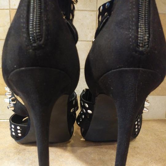 Cape Robbin High Heel Sandals Studded Strappy black & Silver Studs Formal Image 2