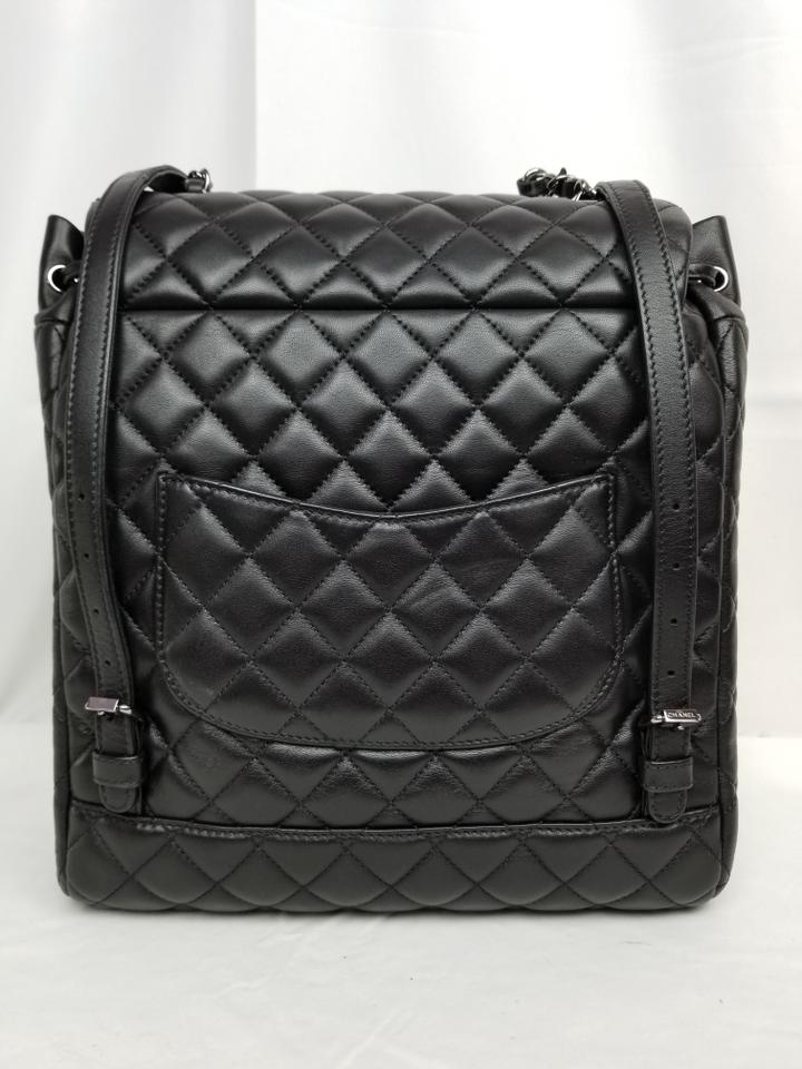 83f635f9eef1 Chanel Drawstring Large Urban Spirit Black Lambskin Leather Backpack -  Tradesy