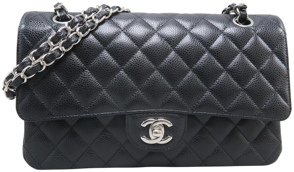 f7a17dc2f1b2 Chanel Classic Flap Classic Medium Double Black Caviar Shoulder Bag ...