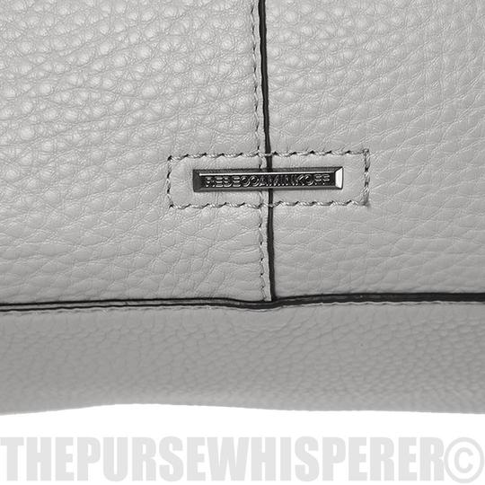Rebecca Minkoff Unlined Pocket Pocket Studs Gray / Pebbled Leather Tote in Putty Image 1