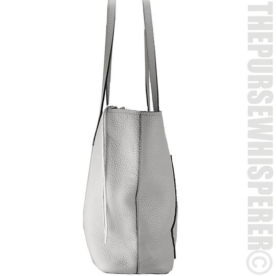 Rebecca Minkoff Unlined Pocket Pocket Studs Gray / Pebbled Leather Tote in Putty Image 10
