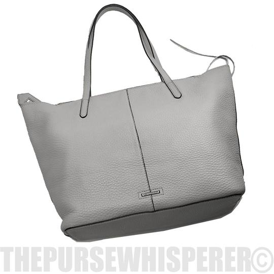 Rebecca Minkoff Unlined Pocket Pocket Studs Gray / Pebbled Leather Tote in Putty Image 2