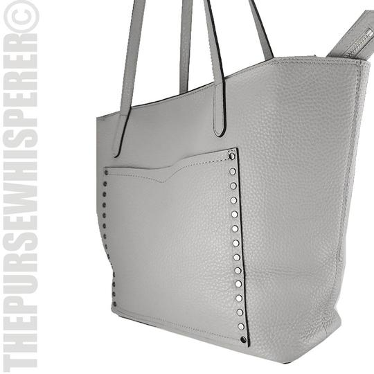 Rebecca Minkoff Unlined Pocket Pocket Studs Gray / Pebbled Leather Tote in Putty Image 3