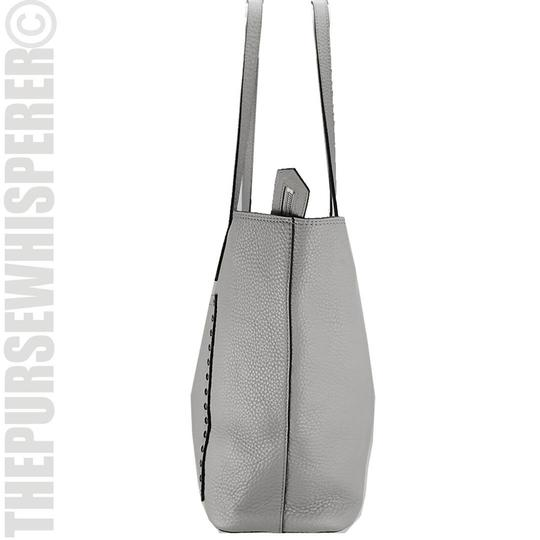 Rebecca Minkoff Unlined Pocket Pocket Studs Gray / Pebbled Leather Tote in Putty Image 4