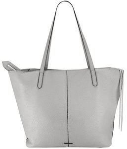 Rebecca Minkoff Unlined Pocket Pocket Studs Gray / Pebbled Leather Tote in Putty