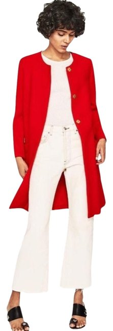 Item - Red Bell Sleeve Jacket Coat Size 2 (XS)