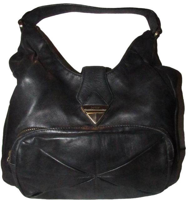Item - Hobo Style Purse Buttery Soft Black Leather and Gold Hardware Satchel