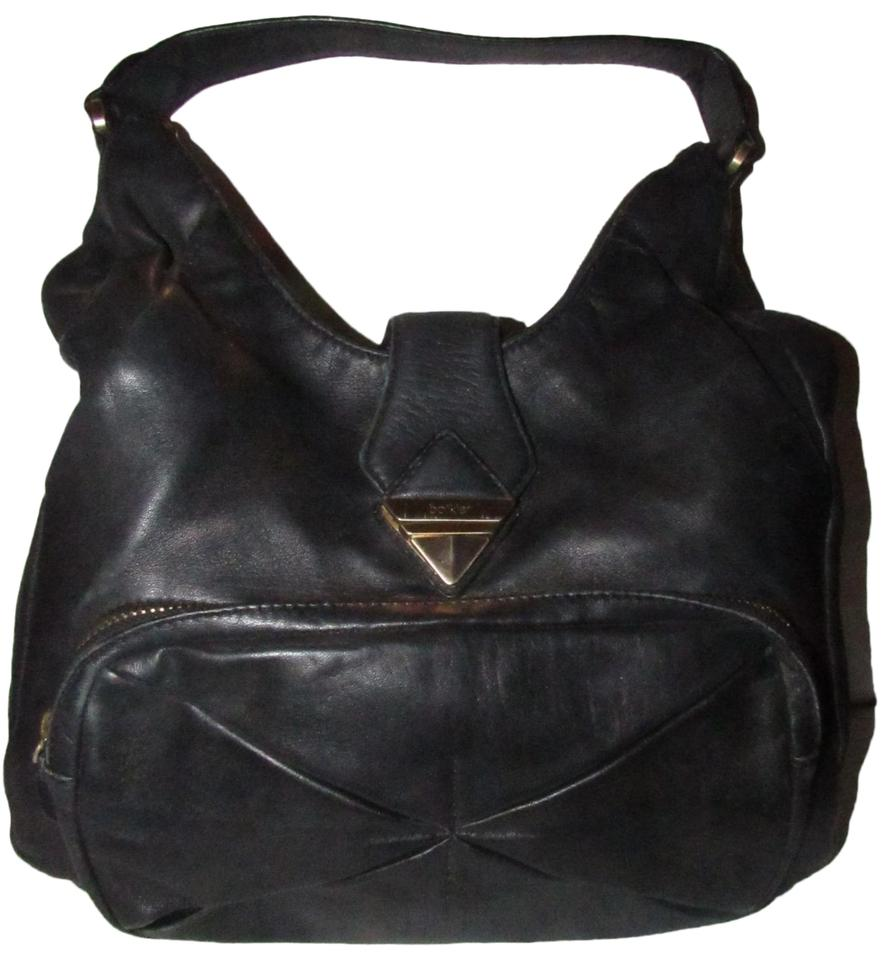 exclusive range latest selection of 2019 outlet sale Botkier Hobo Style Purse Buttery Soft Black Leather and Gold Hardware  Satchel 77% off retail