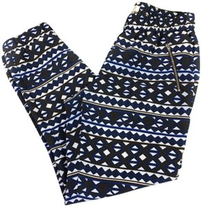 J.Crew Trouser Pants Blue/White