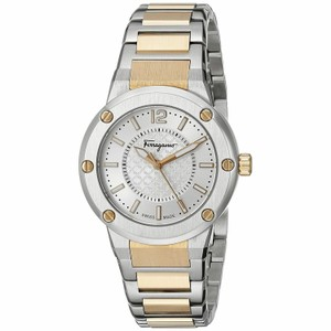 Salvatore Ferragamo Rose Gold Two Tone Stainless Steel F-80 FIG040015