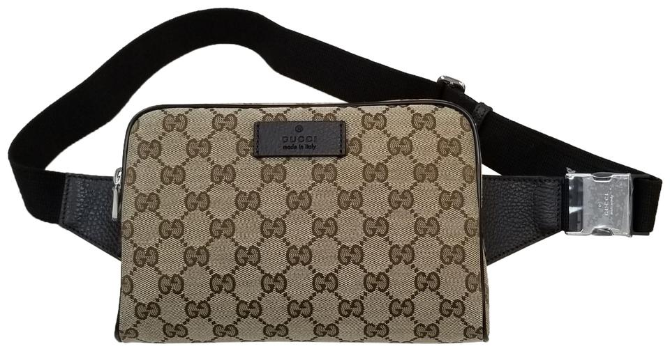 Gucci Bumbag Supreme Canvas Fanny Waist Belt Brown Leather Cross Body Bag  23% off retail