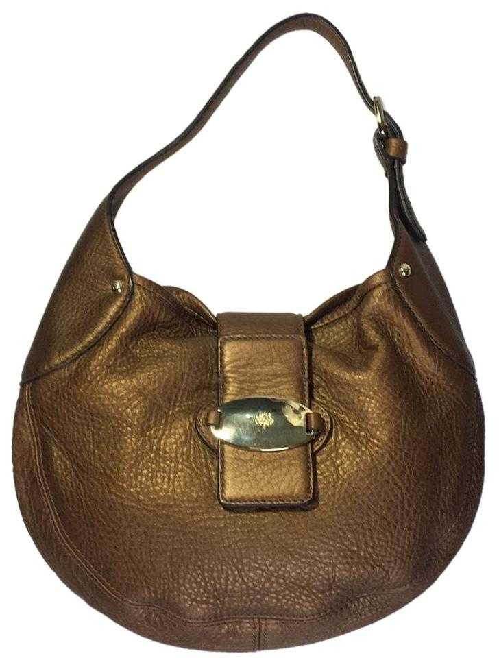 Mulberry Antique Gold Leather Baguette - Tradesy cf2458160837d