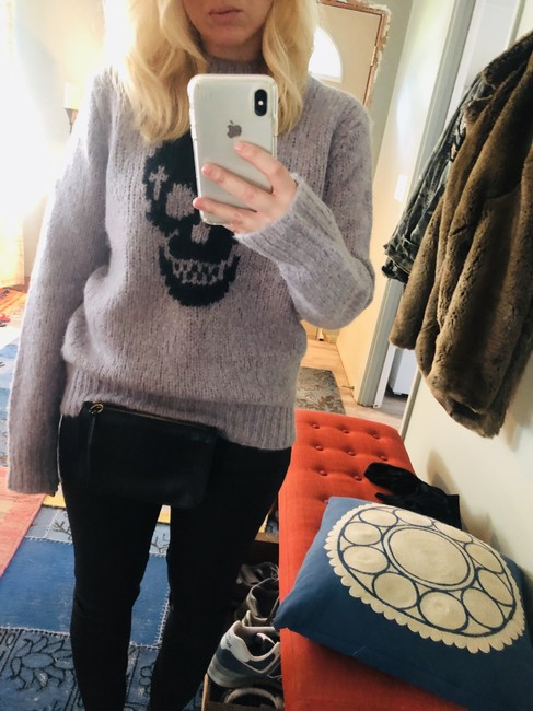360 Sweater Skull Cashmere Lilac Gray Sweater 360 Sweater Skull Cashmere Lilac Gray Sweater Image 4