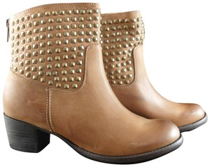 Dolce Vita Leather Studded Camel Boots