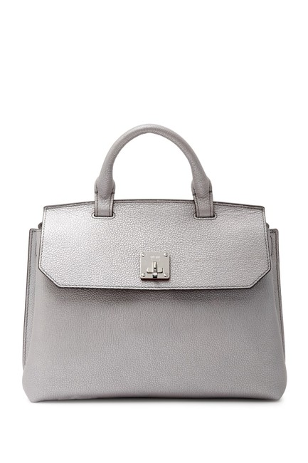 Item - Milla Fontanellas Park Ave Convertible Silver Leather Backpack