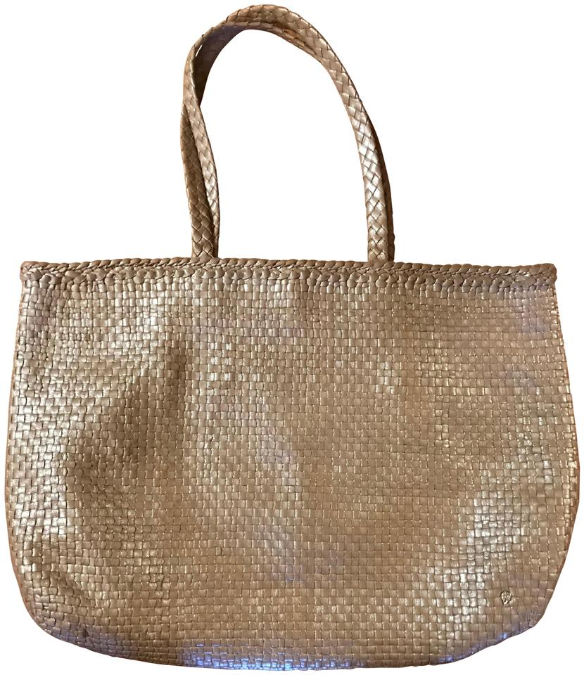 Helen Kaminski Woven Leather Bag. Tote in Taupe Image 0 ...