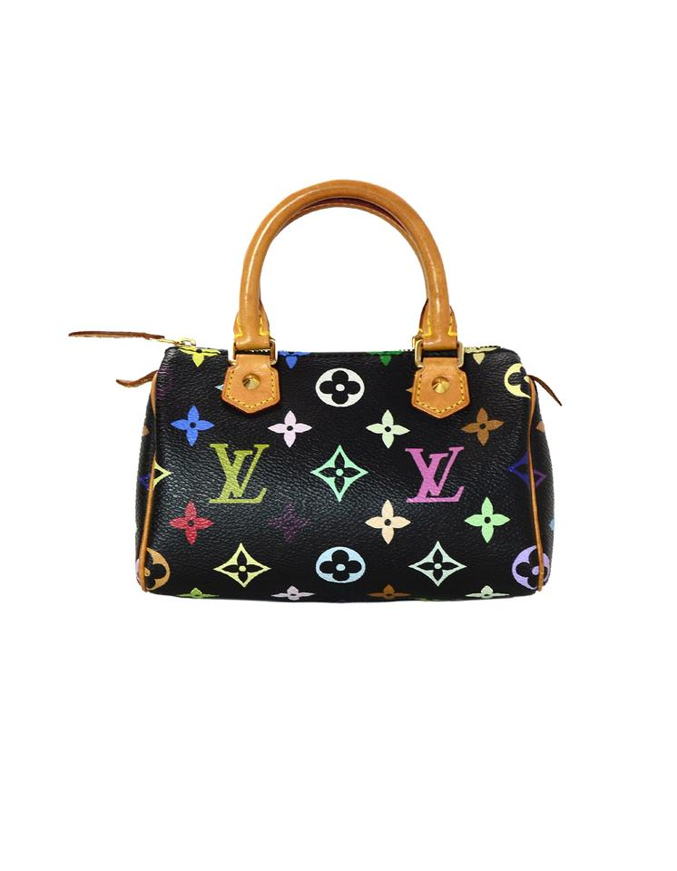 606c20f8a700 Louis Vuitton Lv Monogram Speedy Nano Satchel in Black Multicolor Image 0  ...