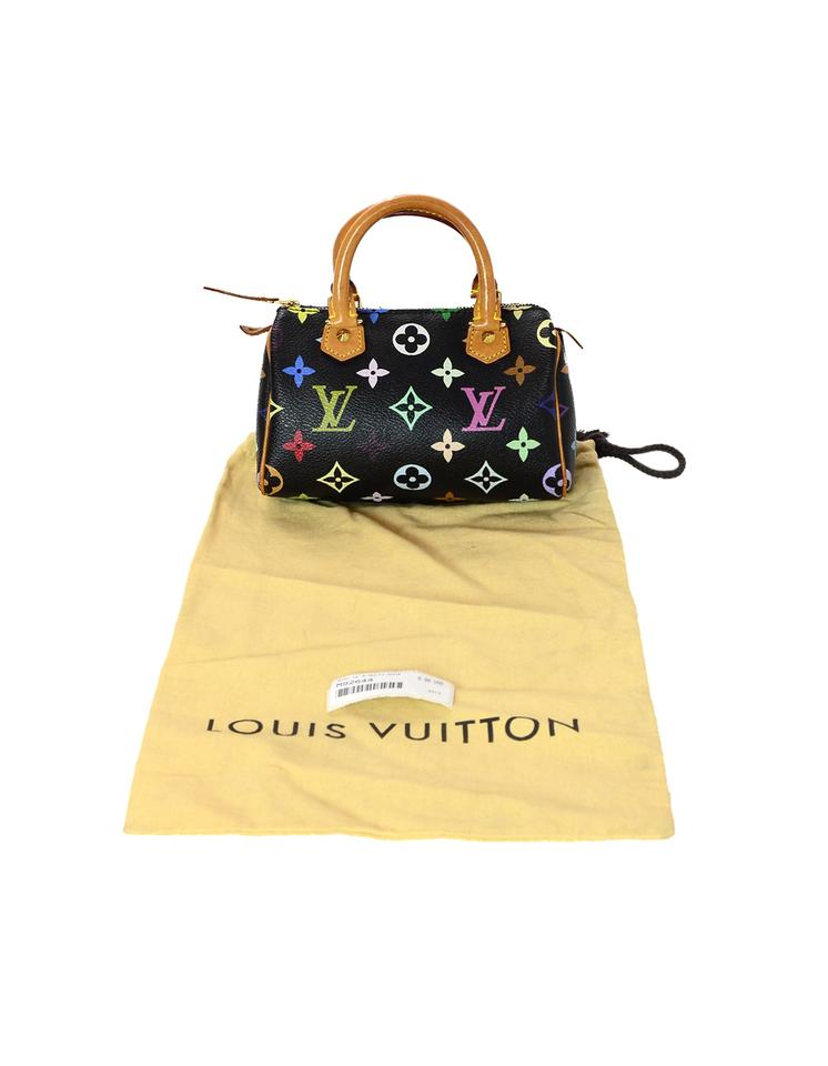 42c360b5a7ac Louis Vuitton Lv Monogram Speedy Nano Satchel in Black Multicolor Image 8.  123456789