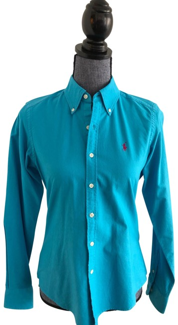 Item - Aqua Sport Cotton Shirt Button-down Top Size 6 (S)