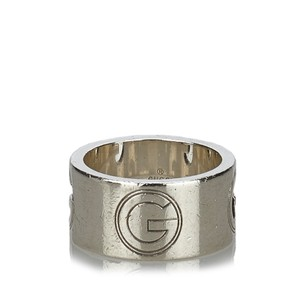 Gucci Gucci Silver Metal G Cutout Ring Italy w Dust BagBox SMALL