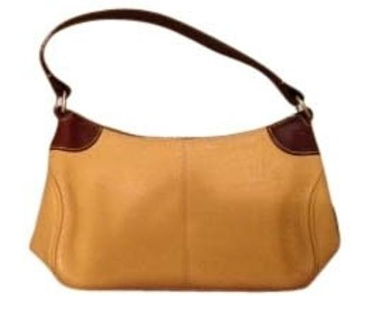 Preload https://item3.tradesy.com/images/dooney-and-bourke-dark-brown-and-yellow-leather-shoulder-bag-24772-0-0.jpg?width=440&height=440