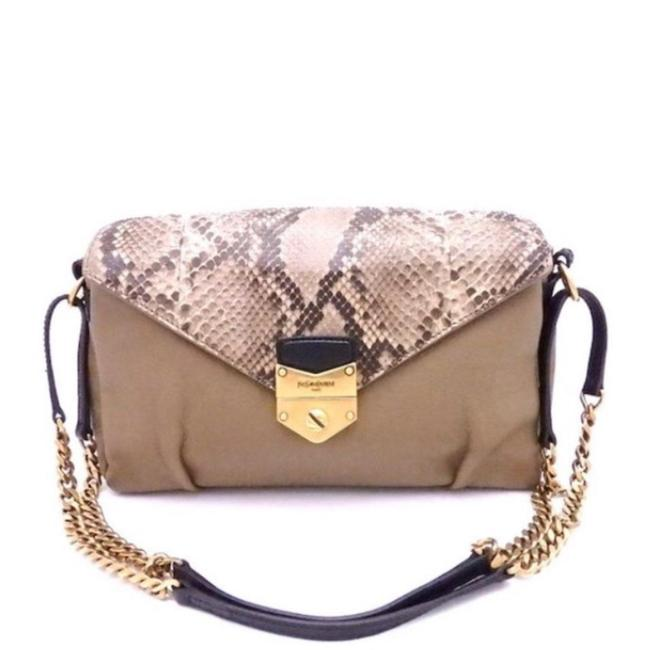 Item - Black and Python Skin with Gold Chai Lambskin Leather Cross Body Bag