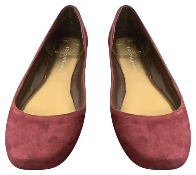BCBGeneration Burgundy Suede Flats Size US 7 Regular (M, B) BCBGeneration Burgundy Suede Flats Size US 7 Regular (M, B) Image 1
