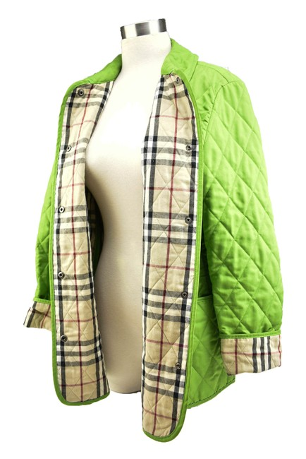 """Item - Spring Green & """"Nova Check"""" Quilted Coat/ Jacket Size 8 (M)"""