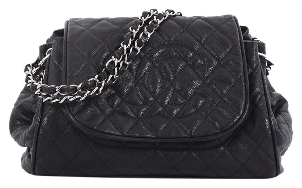 31db5b089469 Chanel Classic Flap Timeless Accordion Quilted Caviar Black Leather ...