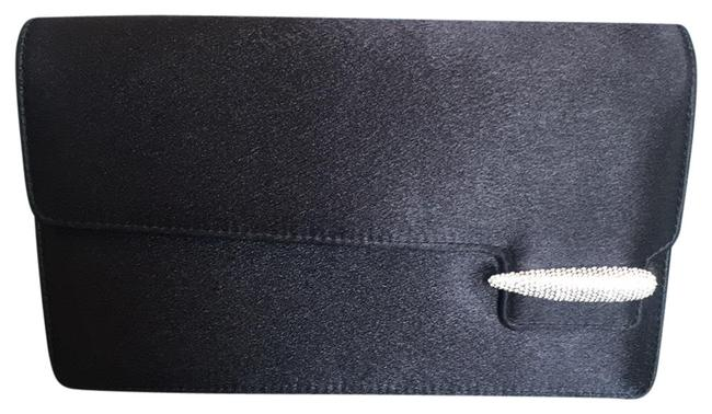 Item - Evening with Chain Black and Silver Satin Clutch