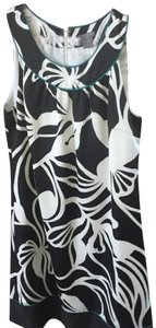 Black and white with accents of teal Maxi Dress by Ann Taylor