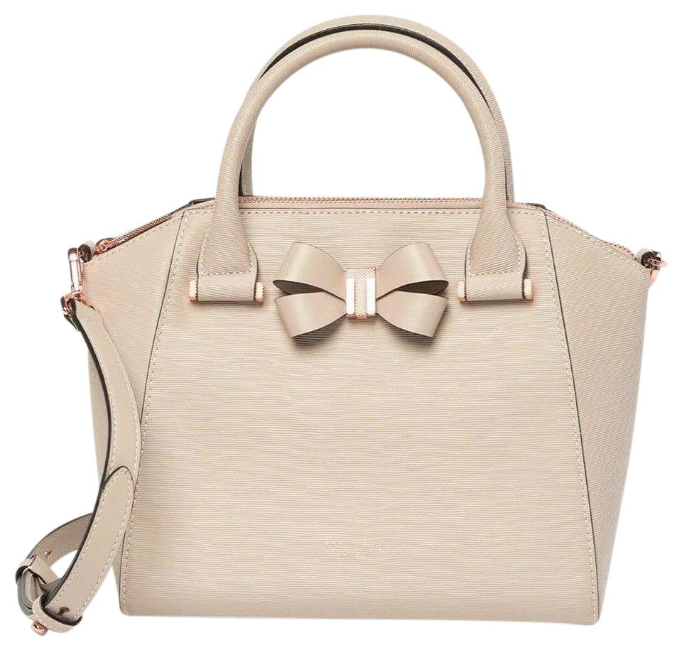 394dadd9c133 Ted Baker Charmea Bow Detail Small Tote Taupe Leather Cross Body Bag ...