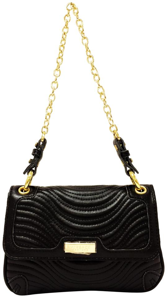 Versace Perfumes Sample Evening Black Leather Shoulder Bag - Tradesy 4df8cbaab8fab
