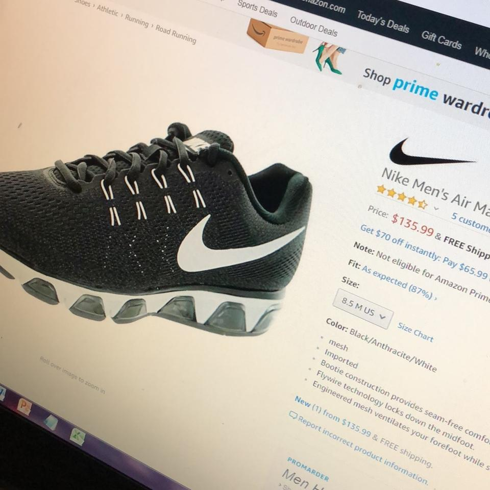 c89e9f1e6604 Nike Tailwind 8 Air Max Running Black Anthracite White Athletic Image 7.  12345678